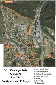 Mapa Cesta za poznáním 2015
