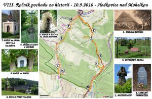 Sdružení rodáků - mapa Cesta za poznáním 2016