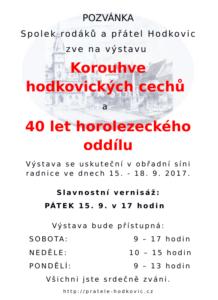 """Výstava """"Korouhve hodkovických cechů"""" a """"40 let horolezeckého oddílu"""""""