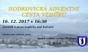 Hodkovická adventní cesta vzhůru 2017