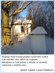 PF 2019 Spolek rodáků a přátel Hodkovic