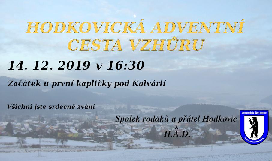 Hodkovická adventní cesta vzhůru 2019